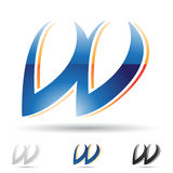 Ícone abstrato para a letra W Imagens de Stock