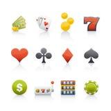 Ícone ajustado - casino Fotografia de Stock Royalty Free