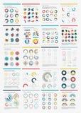 Ícone ajustado da carta de Infographic Elements.Big. Foto de Stock