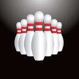 Ícone ajustado do pino de bowling Foto de Stock Royalty Free