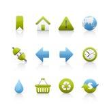 Ícone ajustado - ecologia Imagem de Stock