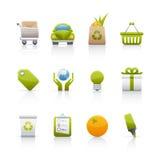 Ícone ajustado - ecologia Imagens de Stock Royalty Free