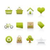 Ícone ajustado - ecologia Fotografia de Stock Royalty Free