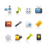 Ícone ajustado - Entretainment Imagem de Stock