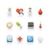Ícone ajustado - médico e farmácia 2 Imagem de Stock