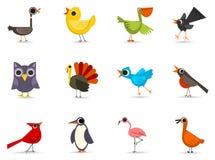 Ícone ajustado - pássaros Fotos de Stock Royalty Free