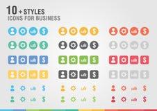 Ícone ajustado para o negócio Projeto creativo Fotografia de Stock Royalty Free
