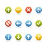 Ícone ajustado - teclas da navegação Imagem de Stock