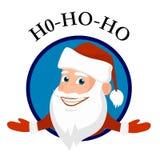 Ícone alegre do vetor de Papai Noel ilustração stock