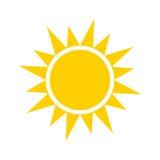 Ícone amarelo de Sun Imagem de Stock Royalty Free