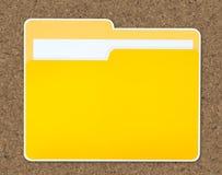 Ícone amarelo do dobrador do original isolado fotos de stock royalty free