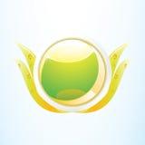 Ícone ambiental verde da natureza Fotografia de Stock Royalty Free