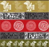 Ícone americano da cultura. Ilustração do vetor ilustração stock