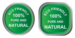 Ícone amigável de Eco Imagem de Stock