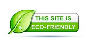 Ícone amigável do Web site de Eco Fotos de Stock