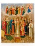 Ícone antigo da igreja. Fotos de Stock Royalty Free