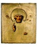 Ícone antigo da igreja. Fotografia de Stock