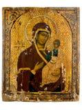 Ícone antigo da igreja. Fotos de Stock