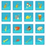 Ícone app azul dos instrumentos musicais ilustração stock