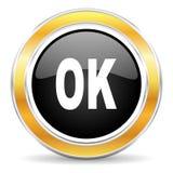 Ícone aprovado Imagem de Stock