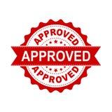 Ícone aprovado do vetor do selo do selo Approve aceitou o vec liso do crachá ilustração stock