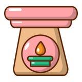 Ícone aromático da lâmpada, estilo dos desenhos animados ilustração do vetor