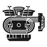 Ícone atlético fácil do estádio, estilo simples ilustração royalty free