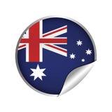 ícone australiano do crachá da etiqueta da bandeira ilustração do vetor