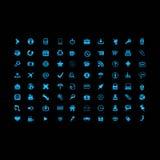 Ícone azul Imagens de Stock