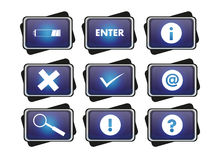 Ícone azul Fotos de Stock