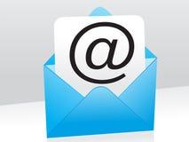 Ícone azul abstrato do correio Fotografia de Stock Royalty Free