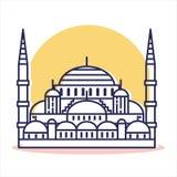 Ícone azul da mesquita - curso e destino