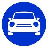 Ícone azul do carro do círculo ilustração do vetor