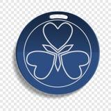 Ícone azul do emblema do tipo, estilo realístico ilustração royalty free