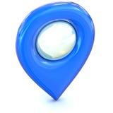 Ícone azul do ponteiro do mapa Fotografia de Stock Royalty Free