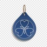Ícone azul do trinket, estilo realístico ilustração do vetor