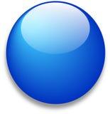 Ícone azul lustroso do Web Fotos de Stock Royalty Free
