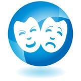 Ícone azul - máscaras ilustração royalty free