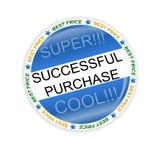 Ícone bem sucedido da compra Imagens de Stock