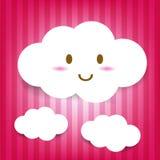 Ícone bonito da nuvem Foto de Stock