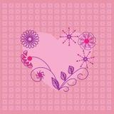 Ícone bonito do coração. Carde para o dia de Valentim, inv Imagens de Stock