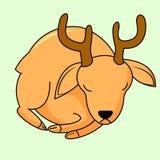 Ícone bonito dos cervos ilustração stock