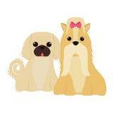 Ícone bonito dos desenhos animados do cão Imagem de Stock