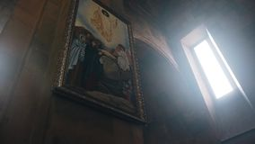 Ícone bonito em Christian Church armênio Luz bonita filme