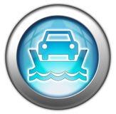 Ícone, botão, balsa do veículo do pictograma ilustração stock