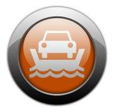 Ícone, botão, balsa do veículo do pictograma ilustração do vetor