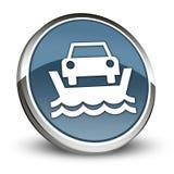 Ícone, botão, balsa do veículo do pictograma ilustração royalty free