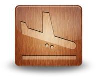 Ícone, botão, chegadas do aeroporto do pictograma imagem de stock royalty free