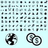 Ícone, botão e pictograma do esporte Fotografia de Stock Royalty Free