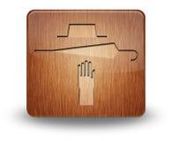 Ícone, botão, pictograma perdido e encontrado imagens de stock royalty free